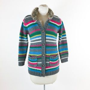 Hanna Andersson Girls Striped Cardigan Sz 140 10